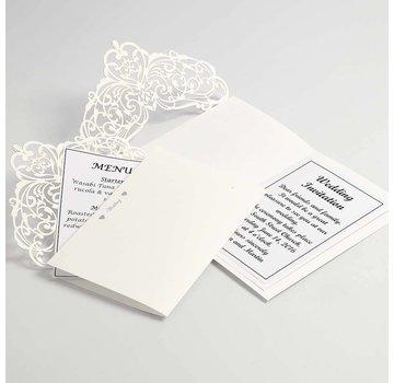 KARTEN und Zubehör / Cards Kort & Kuverter, card størrelse 12x17,7 cm, creme, 5 stykker, 230 g