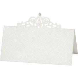 KARTEN und Zubehör / Cards tarjetas del lugar, tamaño de 10,7x5,4 cm, crema, 10 piezas