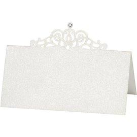 KARTEN und Zubehör / Cards Placez les cartes, taille 10,7x5,4 cm, crème, 10 pièces