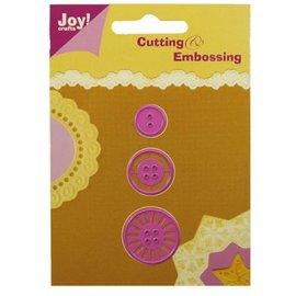 Joy!Crafts / Jeanine´s Art, Hobby Solutions Dies /  Ponsen en embossing sjabloon: knopen