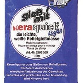 GIESSFORM / MOLDS ACCESOIRES Keraquick luce PE Beutel1kg bianca