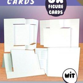 KARTEN und Zubehör / Cards Figura 1 - Tarjetas de artesanía, blanco