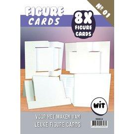 KARTEN und Zubehör / Cards Figura 1 Cards - Craft, bianco
