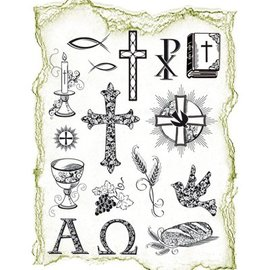 VIVA DEKOR (MY PAPERWORLD) Trasparente francobolli Topic: occasioni religiose