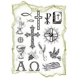 VIVA DEKOR (MY PAPERWORLD) Transparante stempels Topic: religieuze gelegenheden