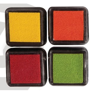 FARBE / STEMPELKISSEN Mini Mascara ink pad, set of 4