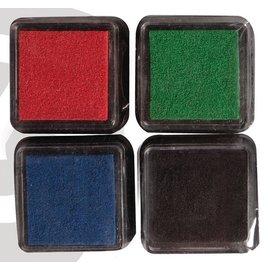 Mini Tusche-Stempelkissen, 4er Set