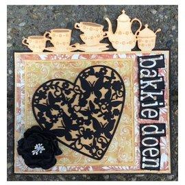 Joy!Crafts / Jeanine´s Art, Hobby Solutions Dies /  Poinçonnage et gaufrage modèles: Coeur avec papillons