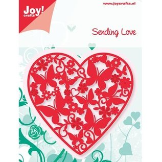 Joy!Crafts / Jeanine´s Art, Hobby Solutions Dies /  Punching and embossing templates: Heart with butterflies