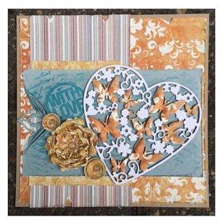 Joy!Crafts / Jeanine´s Art, Hobby Solutions Dies /  Ponsen en embossing sjablonen: Hart met vlinders
