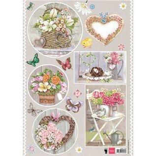 Bilder, 3D Bilder und ausgestanzte Teile usw... A4 pictures, topic: country style, heart