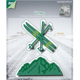 Joy!Crafts / Jeanine´s Art, Hobby Solutions Dies /  Punching and embossing template: ski / mountain landscape