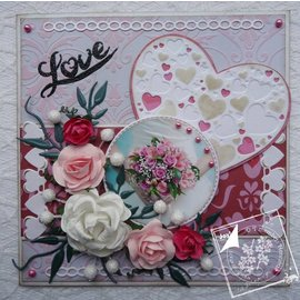 Joy!Crafts / Jeanine´s Art, Hobby Solutions Dies /  Punching and embossing templates: Heart with little hearts