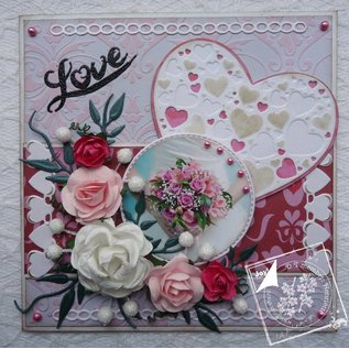 Joy!Crafts / Jeanine´s Art, Hobby Solutions Dies /  Ponsen en embossing sjablonen: Hart met kleine harten