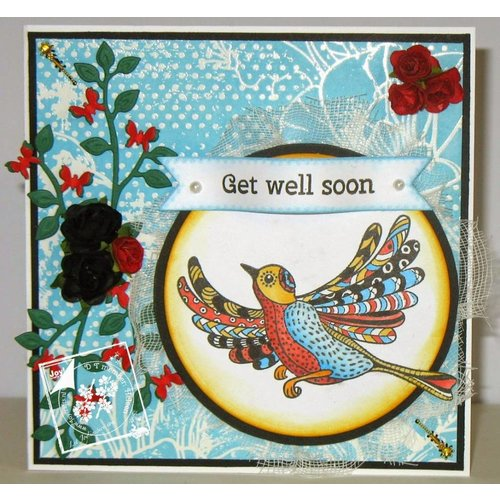 Stempel / Stamp: Transparent tampon transparent: oiseaux Zentangle