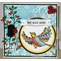 Stempel / Stamp: Transparent Transparant stempel: Zentangle vogels