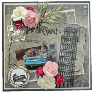 Joy!Crafts / Jeanine´s Art, Hobby Solutions Dies /  Ponsen en embossing sjablonen: Toren van Pisa