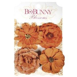 Embellishments / Verzierungen BoBunny, papieren bloemen zinnias