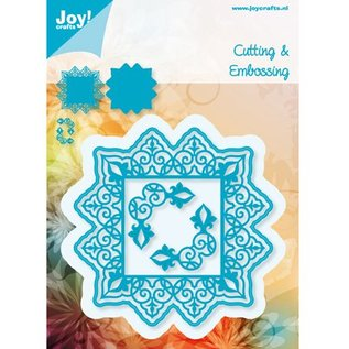Joy!Crafts / Jeanine´s Art, Hobby Solutions Dies /  Punzonatura e goffratura stencil, angolo piazza + 2