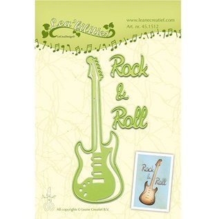 Leane Creatief - Lea'bilities und By Lene Cutting and embossing stencils, guitar