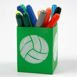 Kinder Bastelsets / Kids Craft Kits Stempel van schuimrubber: Sport, een totaal van 12 ontwerpen
