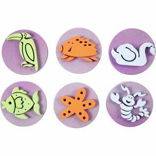 Kinder Bastelsets / Kids Craft Kits Timbro di gommapiuma: Zoo, per un totale di 12 disegni