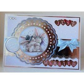Crafters Company: BeBunni A6 Enhed, gummistempler sæt, bryllup