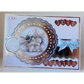 Crafters Company: BeBunni A6 Unmounted rubber stamps set, wedding