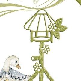 Precious Marieke Stempelen en embossing stencil, Birdhouse