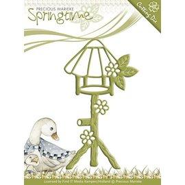 Precious Marieke Stempling og preging sjablong, Birdhouse