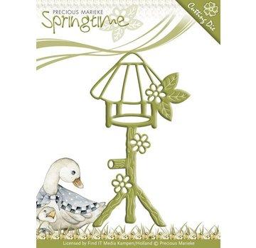 Precious Marieke Estampillage et le gaufrage pochoir, Birdhouse