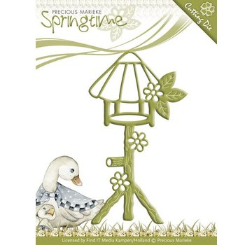 Precious Marieke Stampaggio e goffratura stencil, Birdhouse