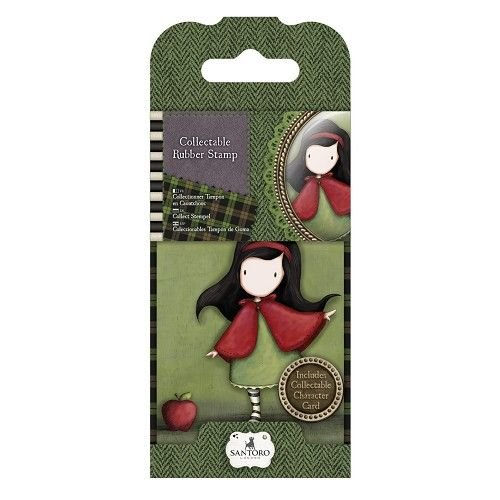 Gorjuss / Santoro NIEUW: Mini rubber stamp No.14 Little Red