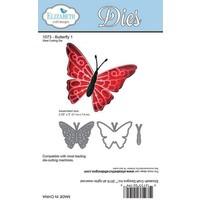 Skæring og prægning stencils: Butterfly