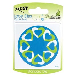 Docrafts / X-Cut Punching and embossing stencils, hearts