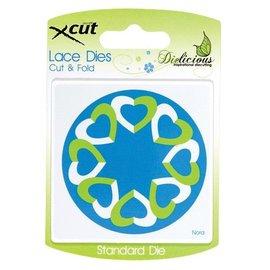 Docrafts / X-Cut Stansning og prægning stencils, hjerter
