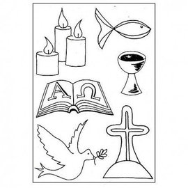 Stempel / Stamp: Transparent Transparent Stempel: Christliche Symbole
