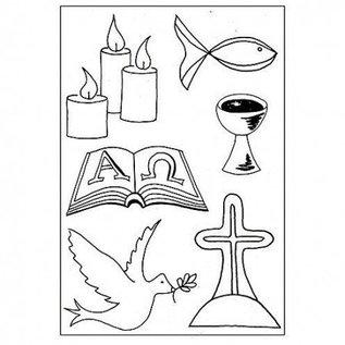 Stempel / Stamp: Transparent I timbri trasparenti: Christian Symbols