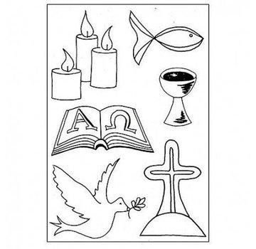 Stempel / Stamp: Transparent timbro trasparente: Christian Symbols