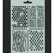 Pronty Polybesa stencil ATC, Stencil