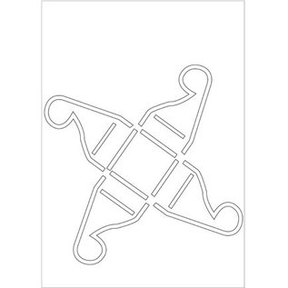 Dekoration Schachtel Gestalten / Boxe ... Poly Besa Stencil: Pralinedose