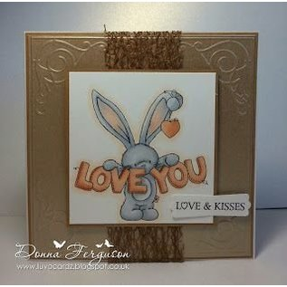 Crafters Company: BeBunni Gummi Stempel, BeBunni Thema: I Love You - LETZTE!
