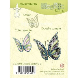 Leane Creatief - Lea'bilities und By Lene Transparant stempel: Zentangle vlinder