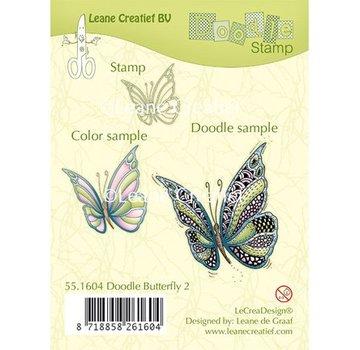 Leane Creatief - Lea'bilities und By Lene Transparent stempel: Zentangle sommerfugl