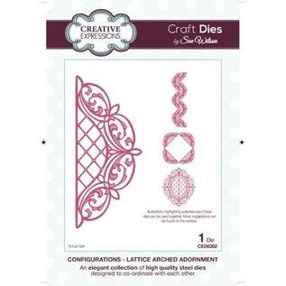 CREATIVE EXPRESSIONS und COUTURE CREATIONS Stanz- und Prägeschablone, Lattice Arched Adornment
