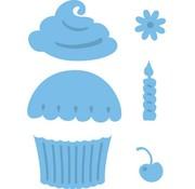 Marianne Design Stempling og prægning stencil, Cupcake