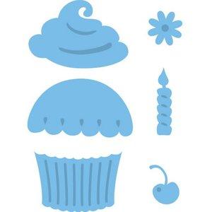 Marianne Design Stampen en Embossing stencil, Cupcake