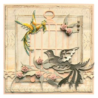 Marianne Design Stempelen en embossing stencil, vogel