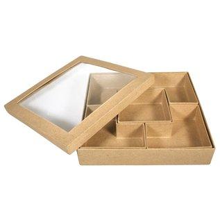 Objekten zum Dekorieren / objects for decorating 1 Sortierbox Quadradisch, zum bemalen und Dekorieren