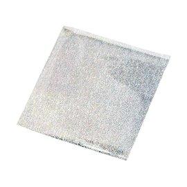 BASTELZUBEHÖR, WERKZEUG UND AUFBEWAHRUNG Transferfolie, Blatt 10x10 cm, 30 Blatt, glitter silber